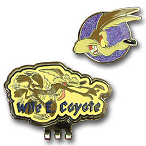 Looney Tunes Wile E. Coyote Golf Ball Marker & Hat Clips