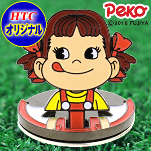 【不二家 Peko】直立式高尔夫球标帽夹/【Peko-Chan】Flip-up Golf Ball Marker with Hat Clip.