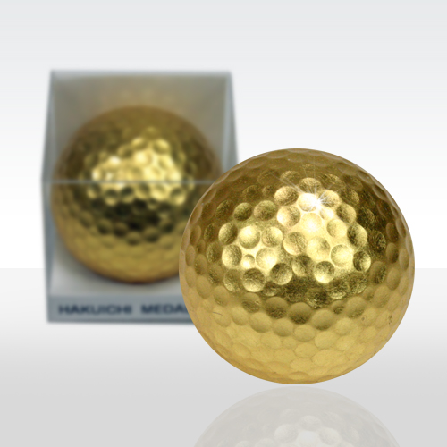 Gold Leaf Golf Ball (Pack of 1, Kanazawa Japan gold leaf)