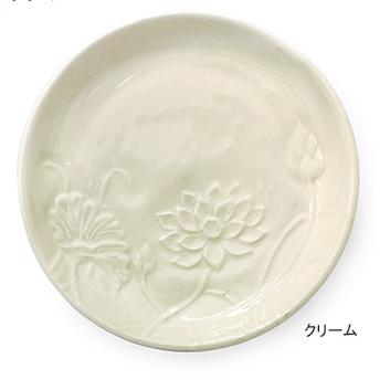 どんなお料理も映えるきれいな発色です 蓮花皿 新作アイテム毎日更新 完売 アイボリー