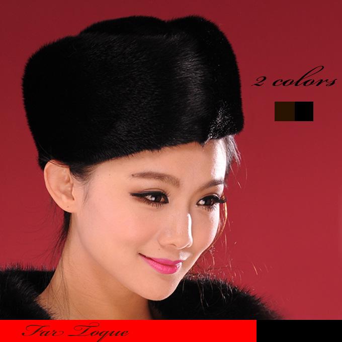 【送料無料】珍しいミンク素材のトーク帽です。☆毛皮帽子/ミンク/トーク帽/ヘッドドレス/正装帽子/