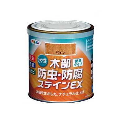 木目を生かした水性木部用途料 アサヒペン 水性 木部防虫 防腐ステインEX 1.6L ウォルナット 売り出し 全5色 水性アクリル樹脂塗料 ストアー