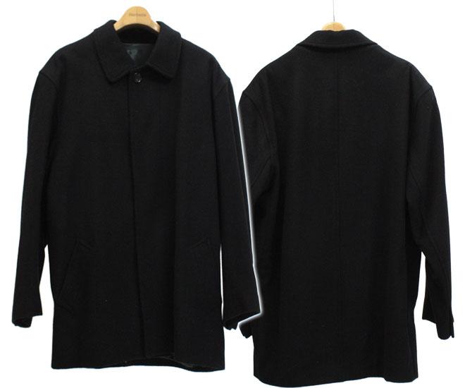 カシミヤ混素材 メンズフォーマルロングジャケット【ブラック】【比翼仕立て】【男性】 ギフト プレゼント 母の日