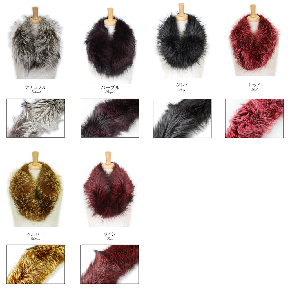 Silver fox fur scarf Lady's gift present Respect for the Aged Day made in all six colors of Japan