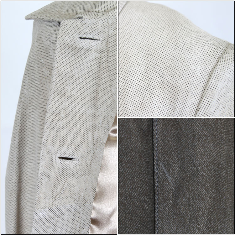 All three translations and pig suede leather stain color jacket print