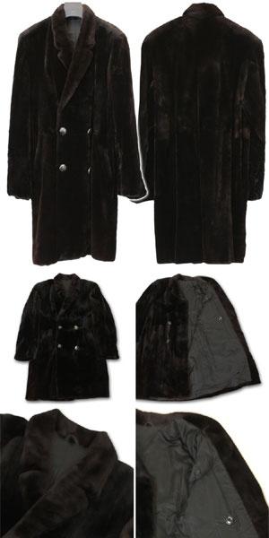 【激安 特価】訳あり シェアード ミンク ファー ハーフコート メンズ ブラック 送料無料 男性 ギフト プレゼント 母の日