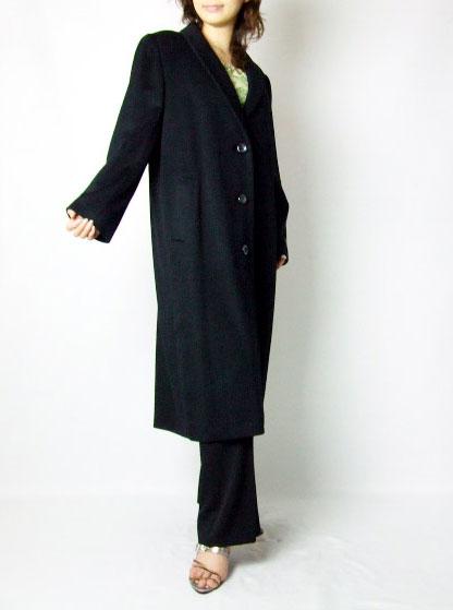 【2000円クーポン有】 カシミヤ素材 コート ブラック 送料無料 レディース ギフト プレゼント