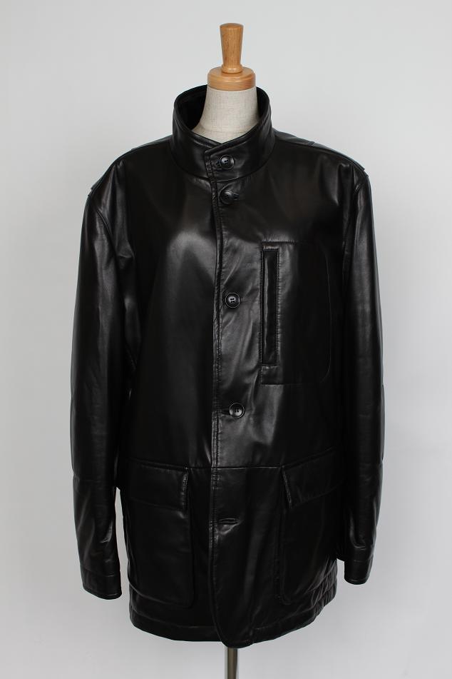 【2000円クーポン有】 ラム レザー メンズ コート ブラック 送料無料 ギフト プレゼント