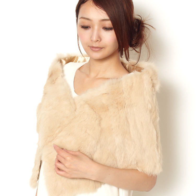 All 9 colors easy rabbit fur scarf