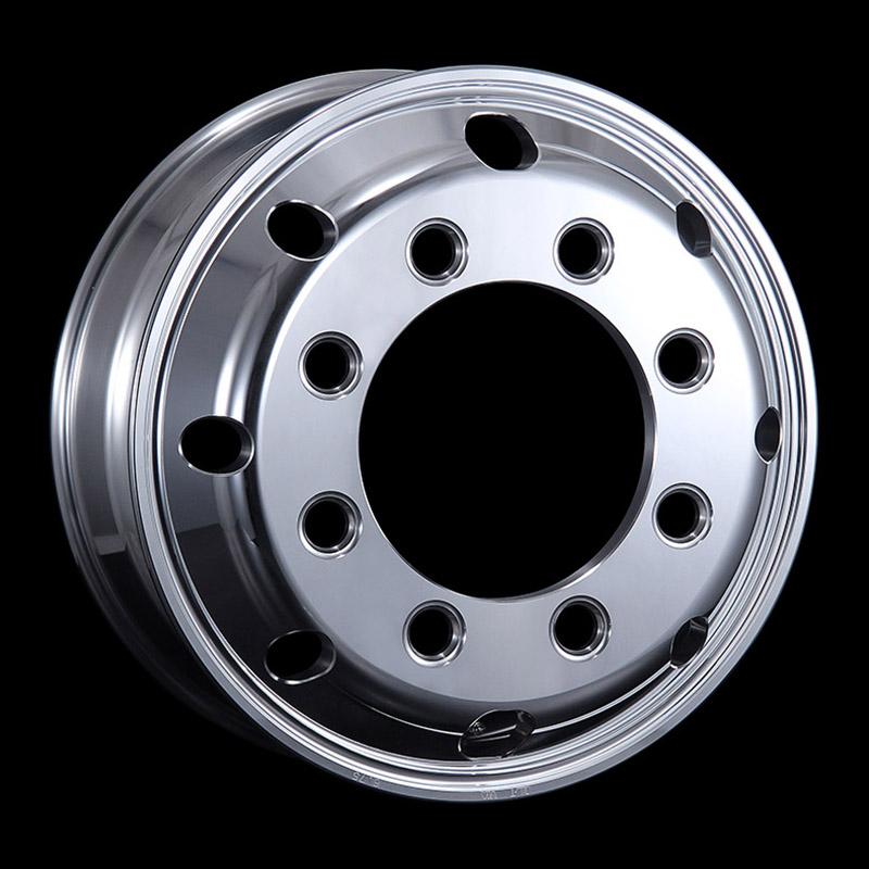 日本製鉄 タフブライト 19.5インチ×6.75(147) 8穴/275 新ISO規格 アルミホイール