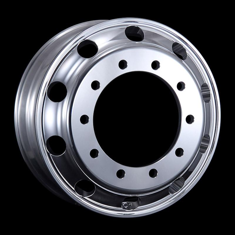 日本製鉄 タフブライト 22.5インチ×7.50(162) 10穴/335 新ISO規格 アルミホイール