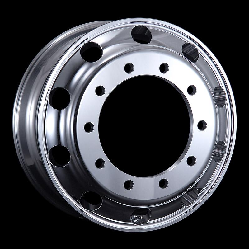 日本製鉄 タフブライト 22.5インチ×8.25(165) 10穴/335 新ISO規格 アルミホイール