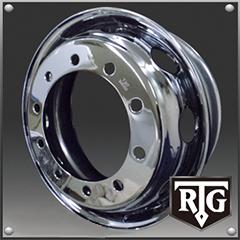 RTGメッキホイール 22.5インチ×7.50(162) 10穴/335 新・ISO規格 フロント用
