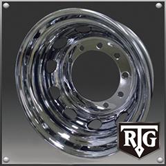 RTGメッキホイール 22.5インチ×7.50(162) 10穴/335 新・ISO規格 リア用