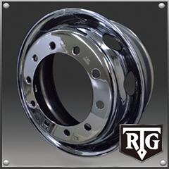 RTGメッキホイール 22.5インチ×8.25(165) 10穴/335 新・ISO規格 フロント用