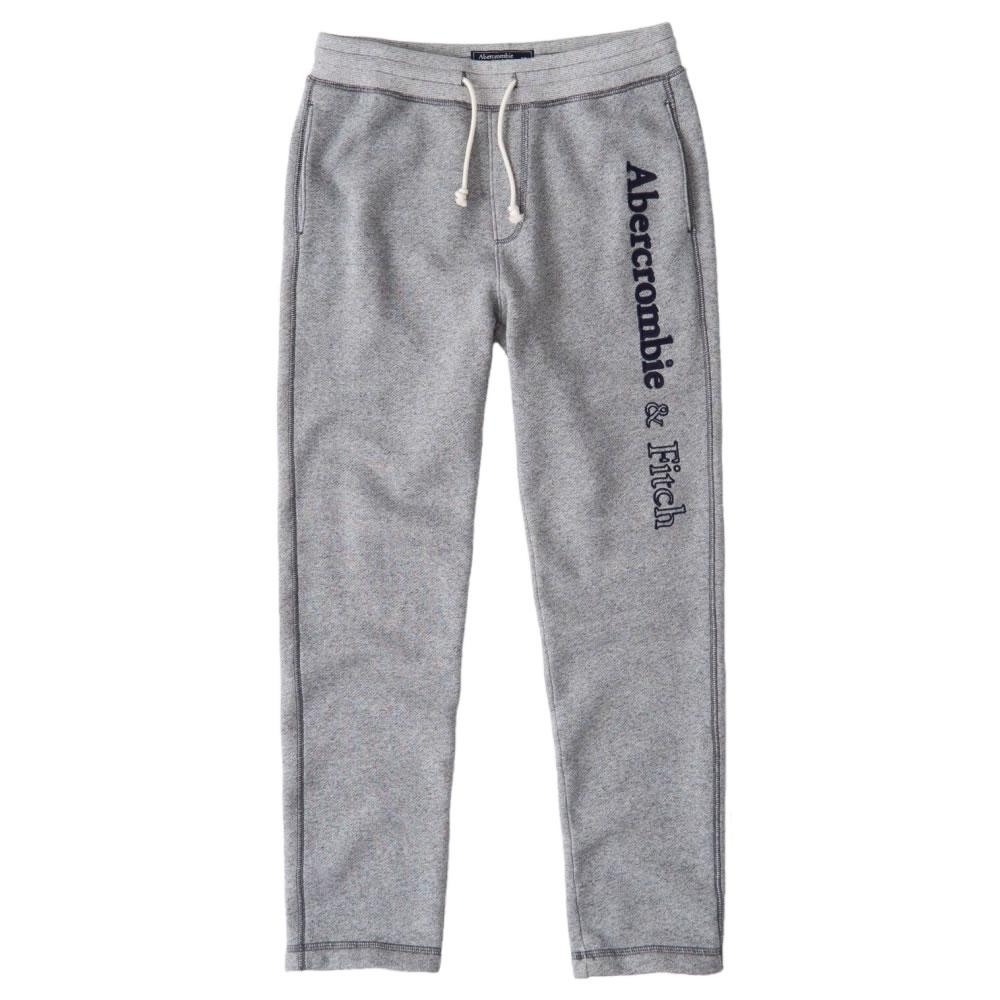 【並行輸入品】アバクロンビー&フィッチ メンズ ロングパンツ ( スウェットパンツ ) Abercrombie&Fitch Classic Logo Sweatpants (ヘザーグレー) 【 スウェット 】