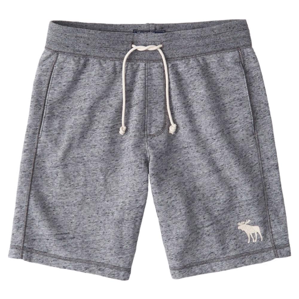 【並行輸入品】アバクロンビー&フィッチ メンズ ショートパンツ ( スウェットパンツ ) Abercrombie&Fitch Embroidered Exploded Icon Fleece Shorts (ヘザーグレー) 【 短パン ハーフパンツ 】