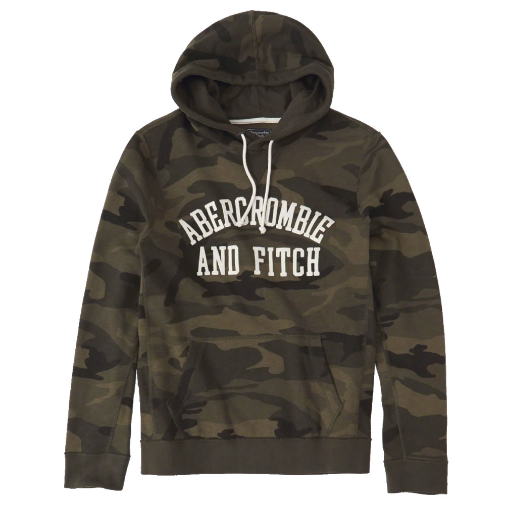 【並行輸入品】アバクロンビー&フィッチ メンズ パーカー ( プルオーバー ) Abercrombie&Fitch Applique Logo Graphic Hoodie (オリーブカモフラージュ) 【 ジャケット アウター 】