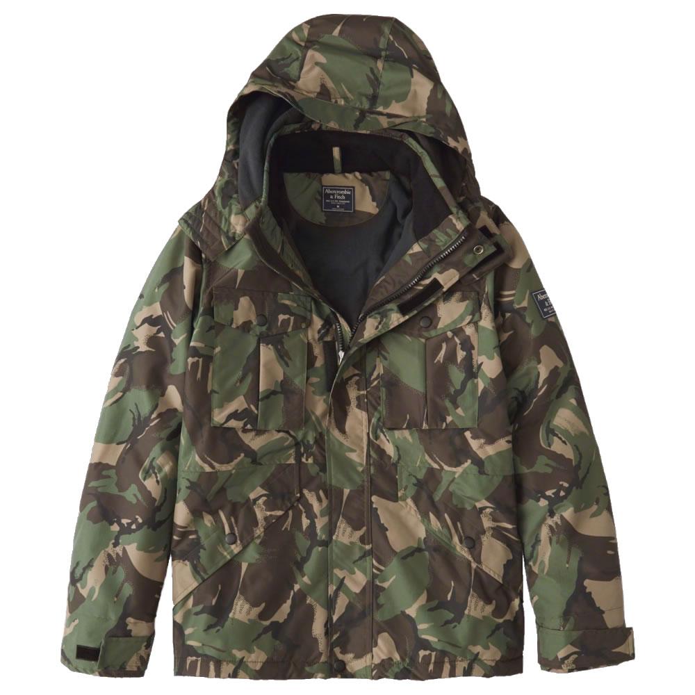 【並行輸入品】アバクロンビー&フィッチ メンズ ジャケット Abercrombie&Fitch Midweight Technical Jacket (オリーブグリーンカモフラージュ) 【 アウター 】