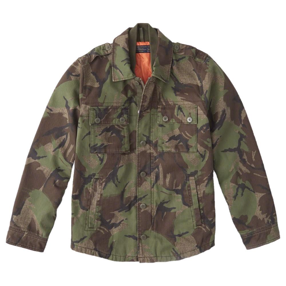 【並行輸入品】アバクロンビー&フィッチ メンズ ミリタリー シャツ ジャケット Abercrombie&Fitch Military Shirt Jacket (カモフラージュ) 【 アウター 】