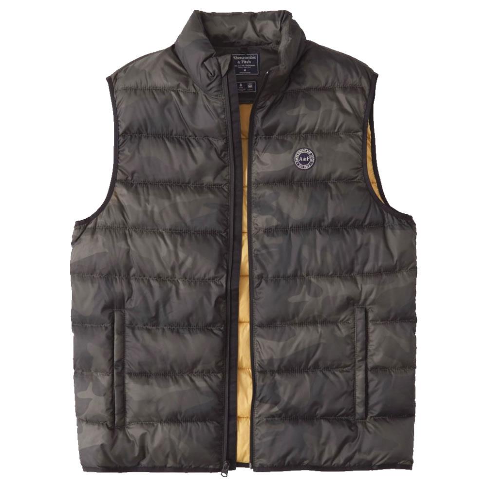 【並行輸入品】アバクロンビー&フィッチ メンズ 中綿 ベスト Abercrombie&Fitch Lightweight Packable Puffer Vest (カモフラージュ) 【 アウター ジャケット 】