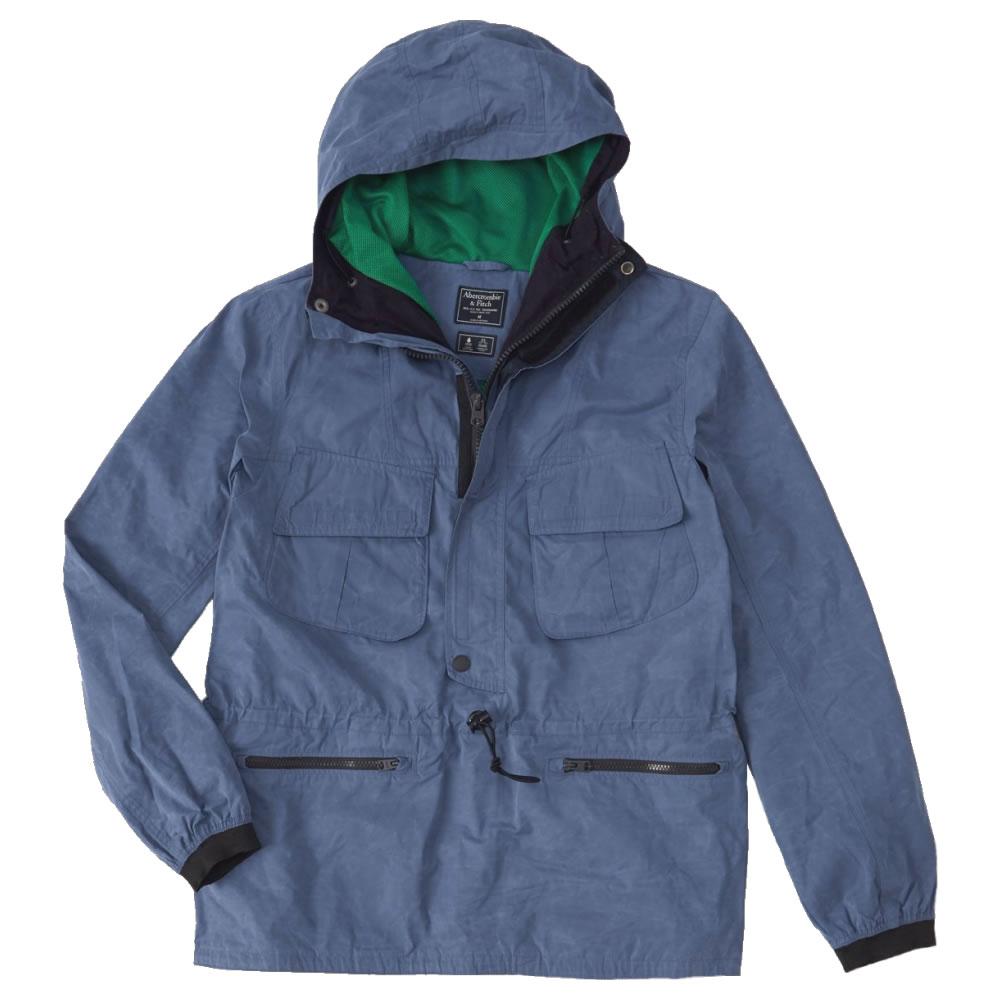 【並行輸入品】アバクロンビー&フィッチ メンズ ジャケット Abercrombie&Fitch Anorak Jacket (ブルー) 【 アウター 】