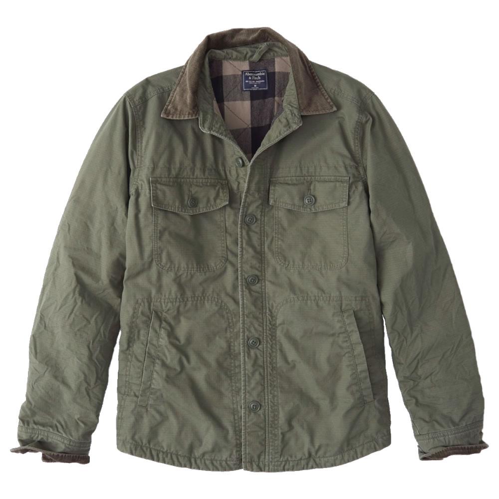 【並行輸入品】アバクロンビー&フィッチ メンズ シャツ ジャケット Abercrombie&Fitch Corduroy Collar Shirt Jacket (オリーブグリーン) 【 アウター 】