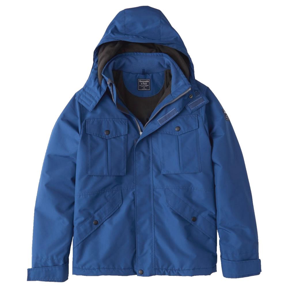 【並行輸入品】アバクロンビー&フィッチ メンズ ジャケット ( 中綿 ) Abercrombie&Fitch Midweight Technical Jacket (ブルー) 【 アウター 】