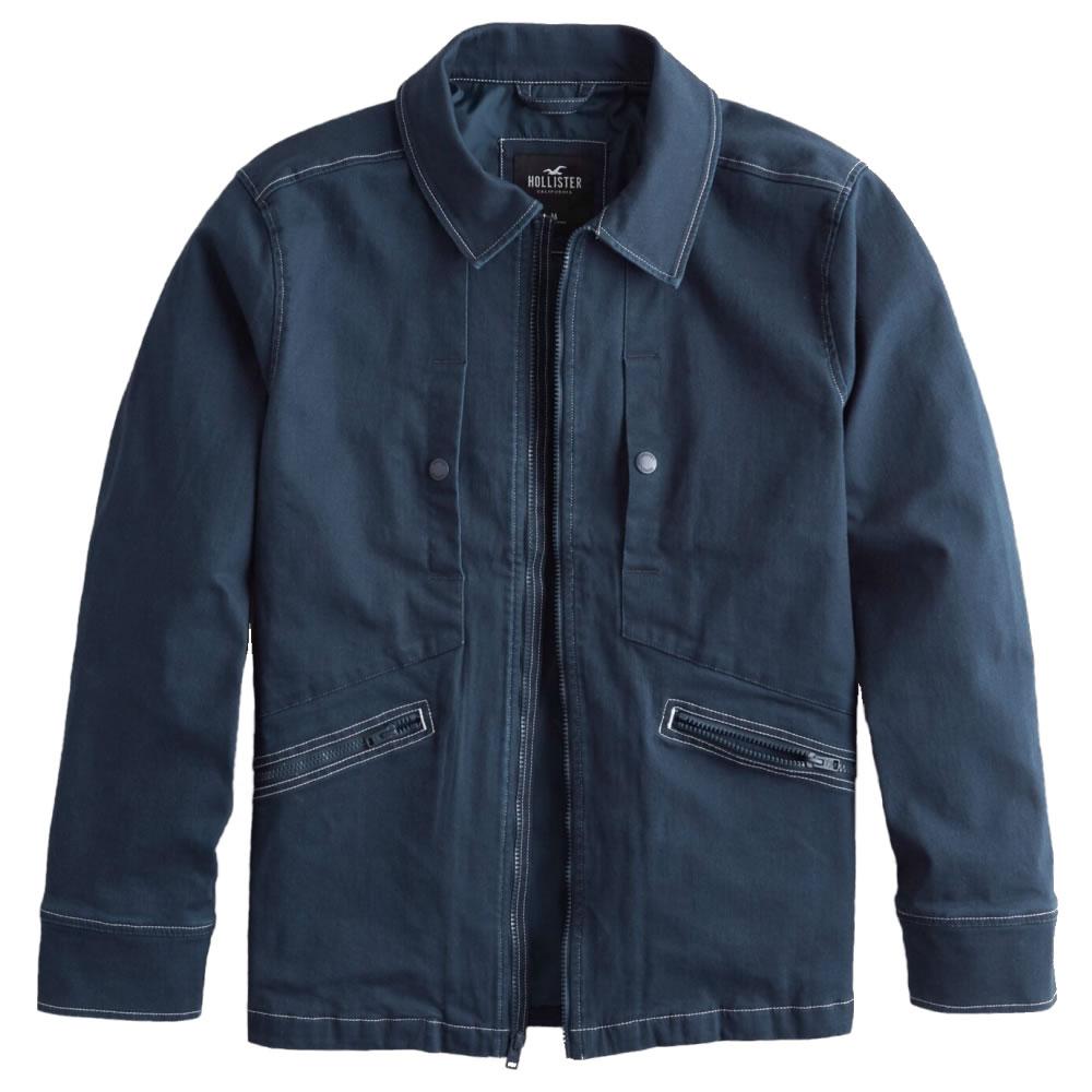 【並行輸入品】ホリスター メンズ ユーティリティ ジャケット Hollister Utility Jacket (ネイビー) 【 アウター 】