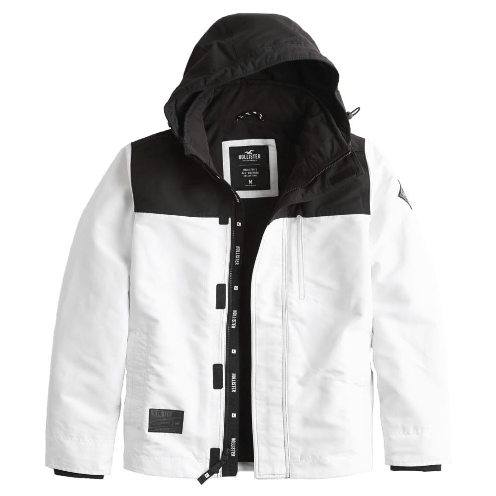 【並行輸入品】ホリスター メンズ ジャケット ( 裏地 フリース ) Hollister Fleece-Lined Jacket (ホワイト) 【 アウター 】