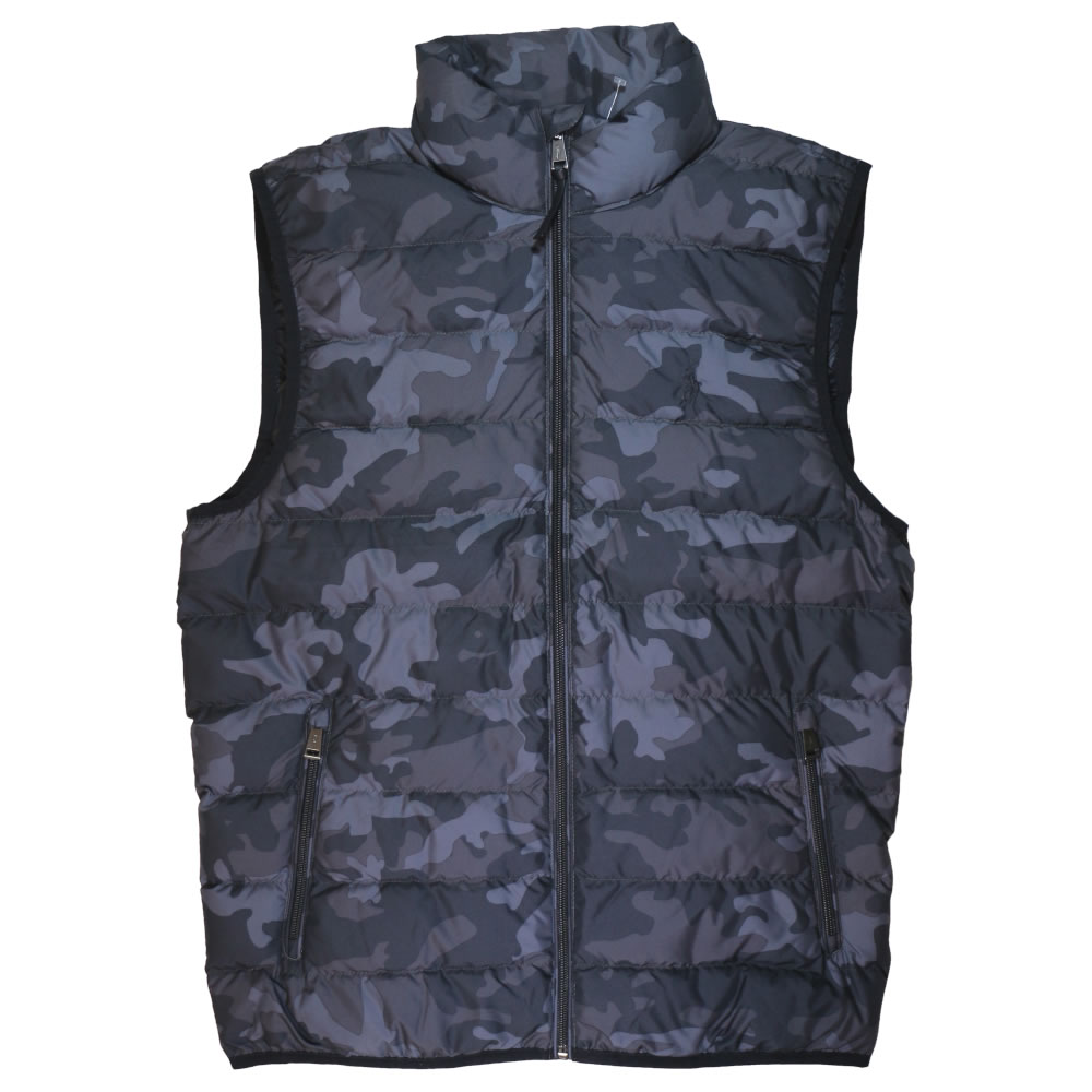 【並行輸入品】ラルフローレン メンズ ダウン ベスト Polo Ralph Lauren Down Vest (カモフラージュグレー) 【 アウター ジャケット 】