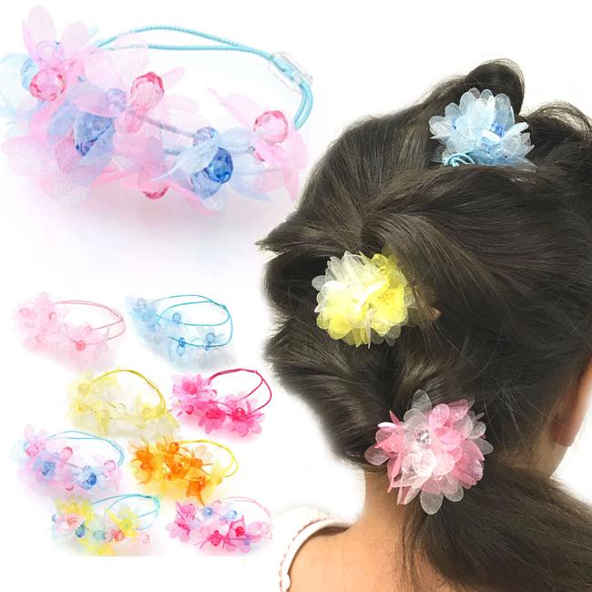 Here gomkidspony   organsiflowermick scalar children girls kids girls (hair  Bobbles hairbrush hair elastics rubber) 6e7760c9e98