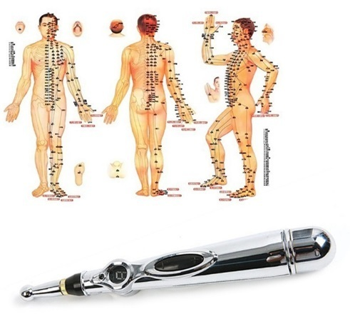 電気鍼 電子鍼 ペン型 経絡マッサージ 電子針 電気針 低周波治療器 電子パルス 痛み治療 鍼治療