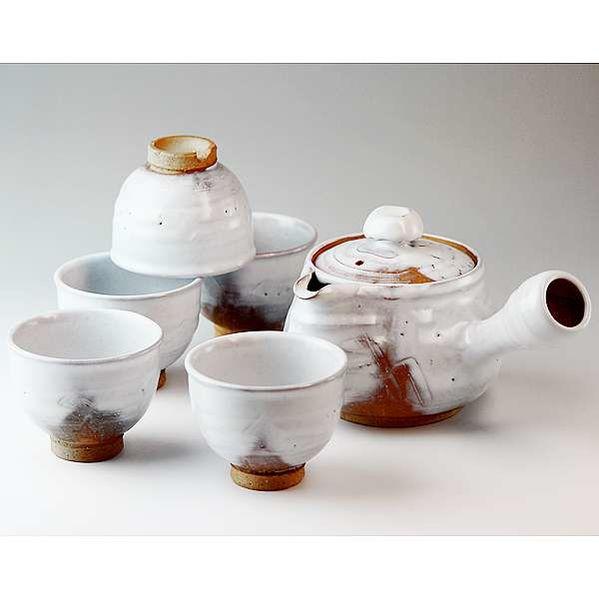 萩焼(はぎやき) 白釉 茶器揃【くみだし 汲み出し クミダシ 茶器 ちゃき チャキ 急須 きゅうす キュウス 器 うつわ ウツワ 食器 しょっき ショッキ