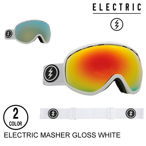 ELECTRIC エレクトリックゴーグル ジャパンフィット MASHER GLOSS WHITE 【2色】スノーボード ゴーグル [セ]