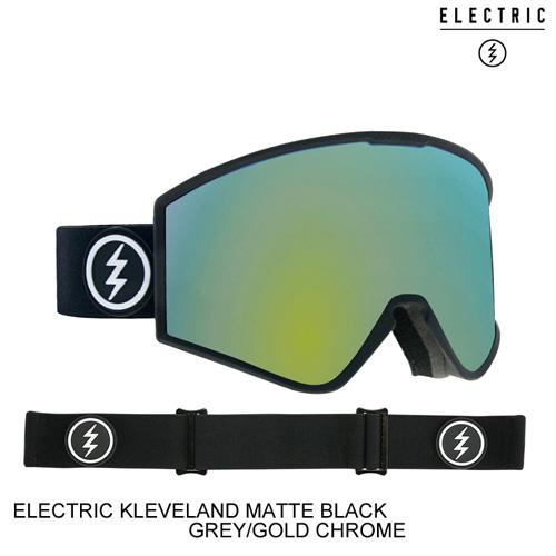 ELECTRIC エレクトリックゴーグル ジャパンフィット KLEVELAND MATTE BLACK GREY/GOLD CHROME スノーボード ゴーグル [セ]