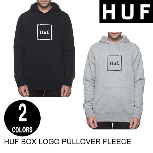 HUF ハフ BOX LOGO PULLOVER FLEECE 【2色】 S-XL 【日本代理店正規品】 プルオーバーフーディー [セ]