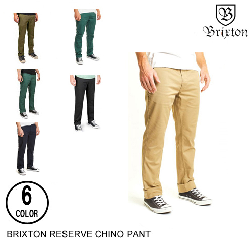 BRIXTON ブリクストン RESERVE CHINO PANT【10色】 28-38 チノパン [セ]