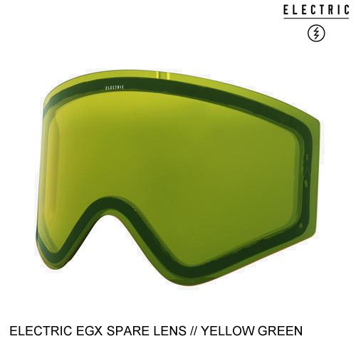 ELECTRIC エレクトリックゴーグル アジアンフィット EGX SNOW GOGGLE SPARE LENS YELLOW GREEN スノーボード ゴーグル スペアレンズ [セ]