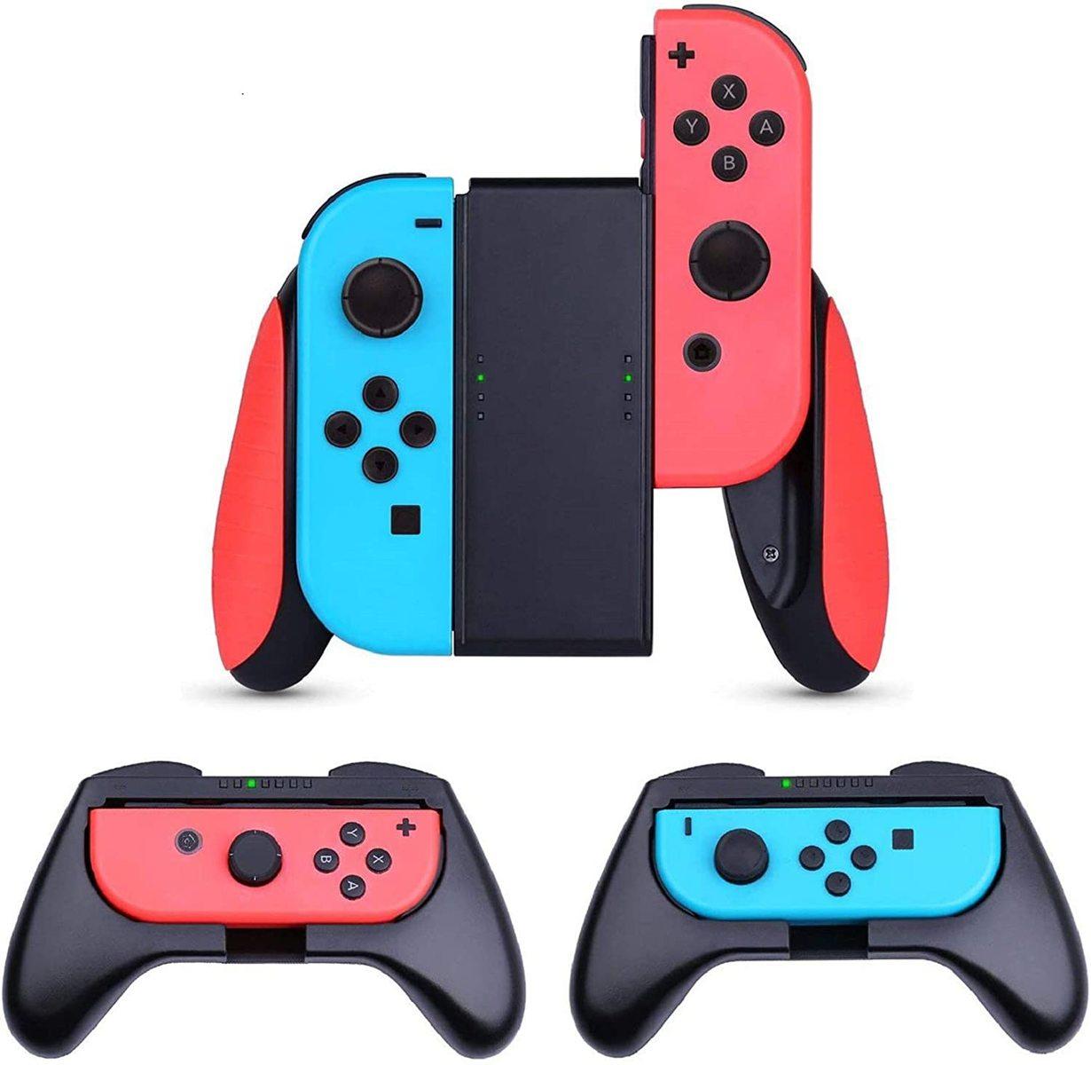 Nintendo Switch 対応 ハンドル 驚きの値段で switch対応 oled対応 スイッチ ジョイコン グリップ 3個セット HEYSTOP Joy-Conコントローラー Joy Con 操作しやすい 装着簡単 switch 手触り良い SL SRボタン付き 遅延なし マリオカート ついに入荷