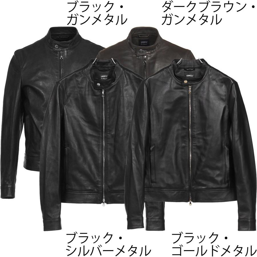 エンメティ シングルライダースジャケット ユリ/Juri ナッパレザー ブラック Emmeti 正規販売店