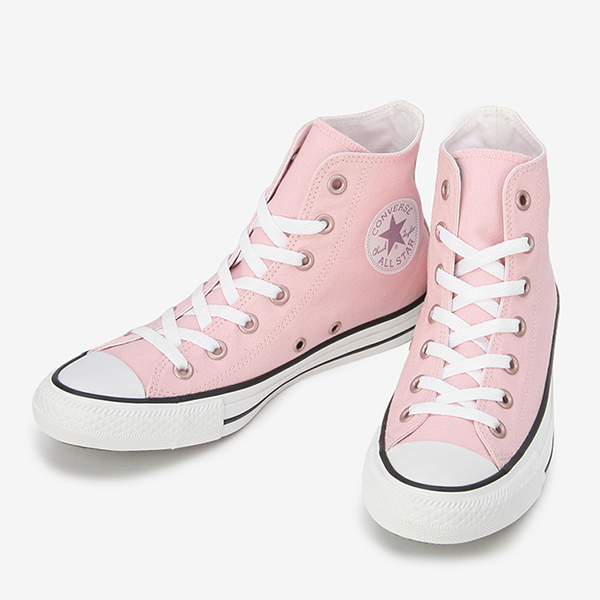 Converse all stars pastels higher frequency elimination pink CONVERSE ALL STAR PASTELS HI PINK Lady's sneakers baby pink