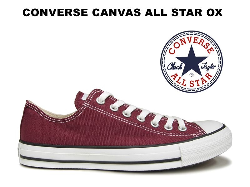 72e9300187cb2 Converse low-frequency cut all-stars CONVERSE CANVAS ALL STAR OX MAROON  Marron