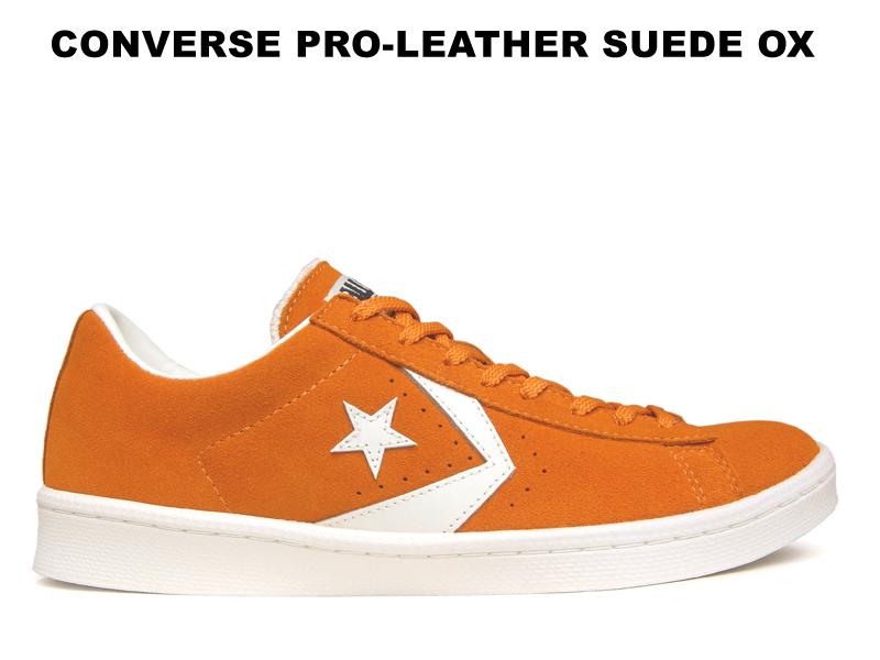 コンバース プロレザー スエード CONVERSE PRO-LEATHER SUEDE OX オレンジ レディース メンズ ワンスター後継モデル