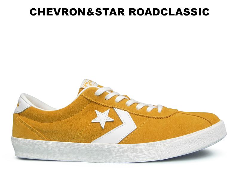 コンバース CONVERSE シェブロンスター ロードクラシック ゴールド レディース メンズ スニーカー 黄色 スエード レザー