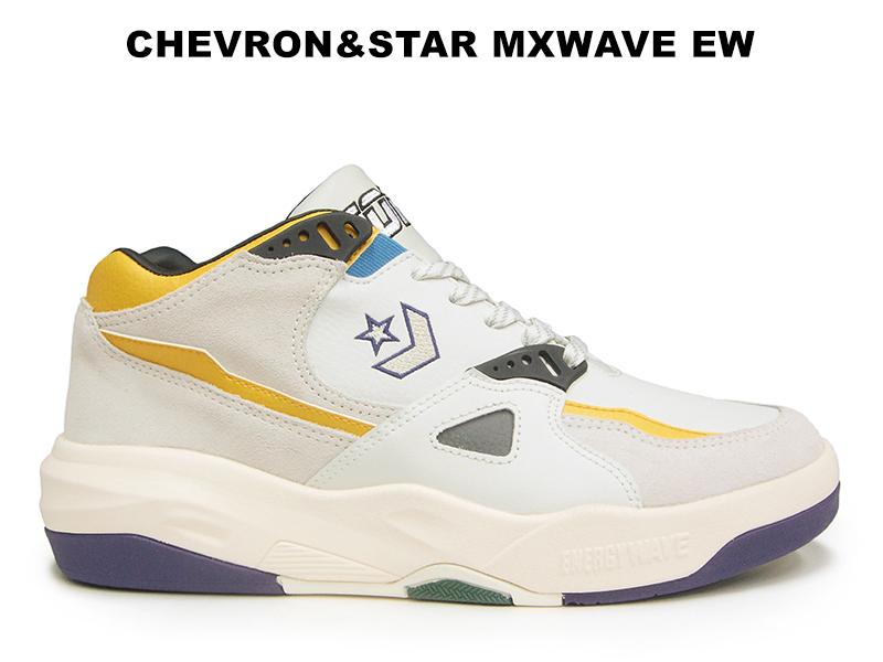 コンバース エナジーウェーブ CONVERSE シェブロンスター MXWAVE EW ホワイト レディース メンズ ダッド スニーカー 白 バッシュ