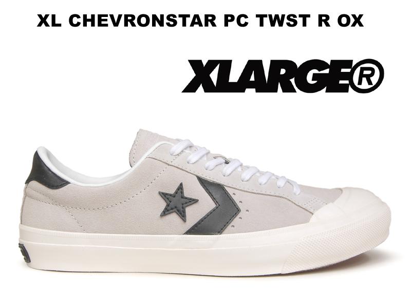 【残り24.0 28.0センチ】 コンバース シェブロンスター CONVERSE CHEVRONSTAR PC TWST R OX ホワイト/ブラック レディース メンズ ローカット スニーカー スエード ワンスター 白黒
