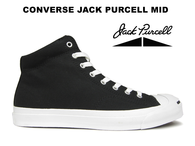 82a0c03e1c94f4 Converse Jack Pursel CONVERSE JACK PURCELL MID higher frequency elimination  black Lady s men sneakers black