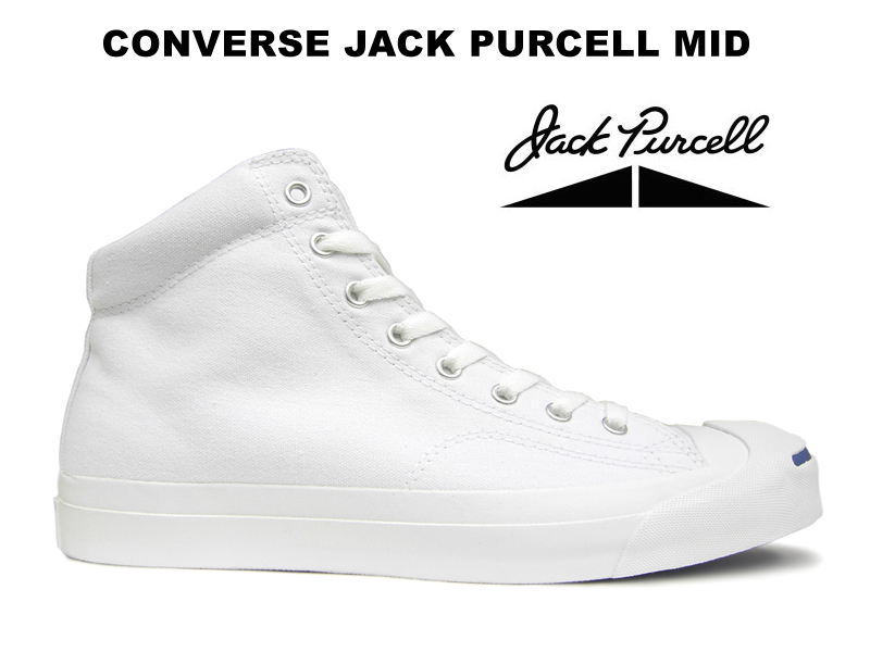 be5e441a818bbd Converse Jack Pursel CONVERSE JACK PURCELL MID higher frequency elimination  white Lady s men sneakers white