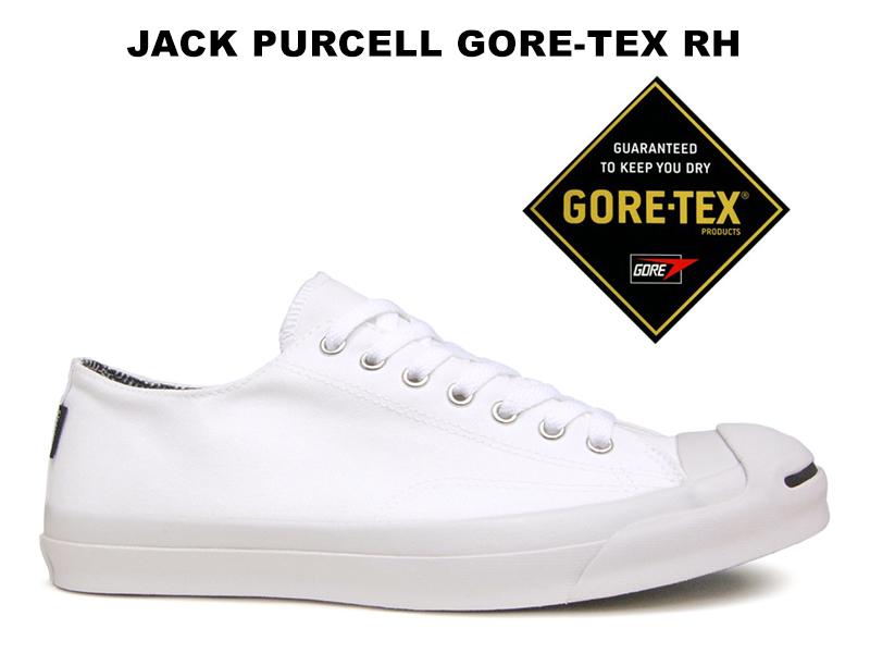 【残り26.5 27.0センチ】【10%OFF】CONVERSE JACK PURCELL GORE-TEX RH WHITEコンバース ジャックパーセル ゴアテックス ホワイト白 ライトグレー レディース メンズ スニーカー 防水 防水透湿素材